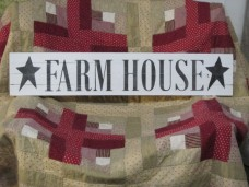 Wooden Farmhouse Sign with Stars