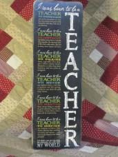 Born to be a Teacher