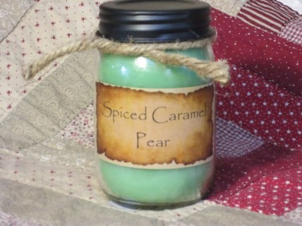 Spiced Caramel Pear Jar Candle