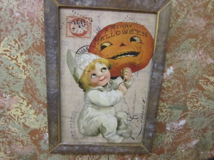 'A Merry Halloween' sign