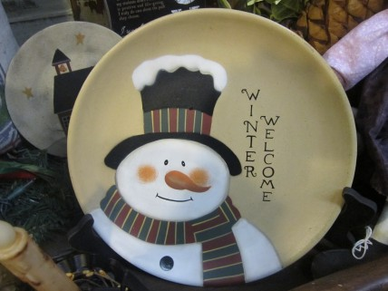 Winter Welcome Plate