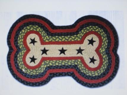 Dog Bone Rug w/Stars