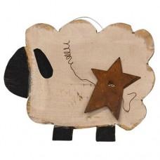 Chubby Sheep w/Rusty Star