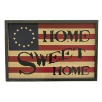 Home Sweet Home Patriotic Flag Sign
