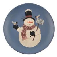 'Feed The Birds' Snowman Plate