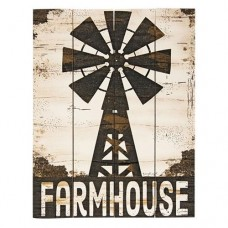 Farmhouse Windmill Pallet Sign